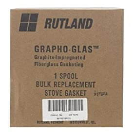 "Rutland Stove Gasket 5/8 "" X 65 Ft. 1000 Deg. F Braided Black"