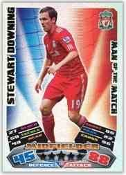Match Attax 2011/12 Man of the Man LIVERPOOL 383 Stewart Downing [Toy]