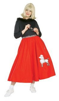 50's Poodle Skirt Babe Adult Plus 1950s Retro Costume Accessory