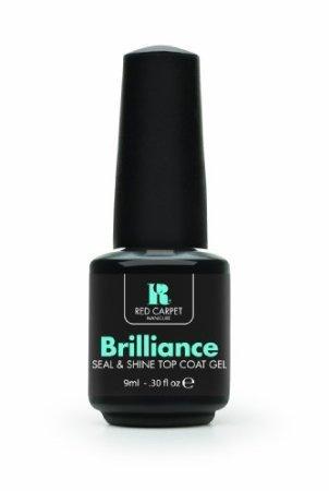 Red Carpet Manicure Brilliance Seal & Shine Top Coat Gel, 0.30 Ounce