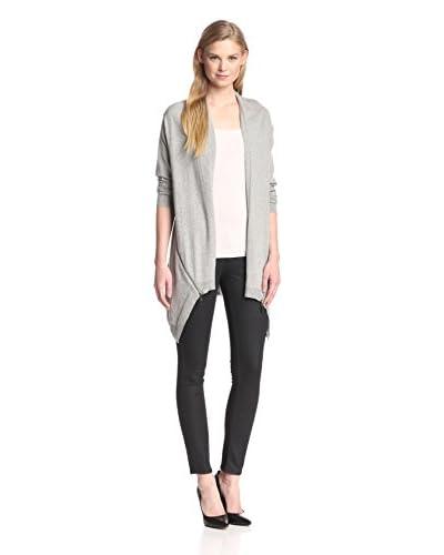 Cashmere Addiction Women's Zipper Detail Cardigan