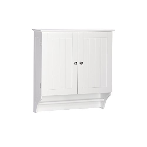 RiverRidge Home Products Ashland Collection 2-Door Wall Cabinet, White (Wall Cabinet Bar compare prices)