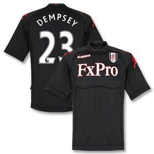 11-12 Fulham Away Jersey + Dempsey 23-L