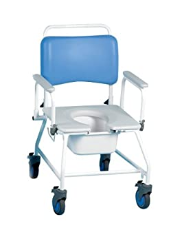 """Commode & Shower Chair Atlantic Bariatric 22"""" W/O Footrests from Patterson Medical"""