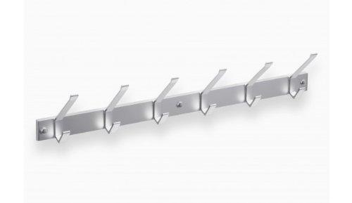 Hochwertige-Garderobenleiste-Hakenleiste-Kleiderhaken-Aluminium-mit-6-Haken-690-x-40-mm-3433