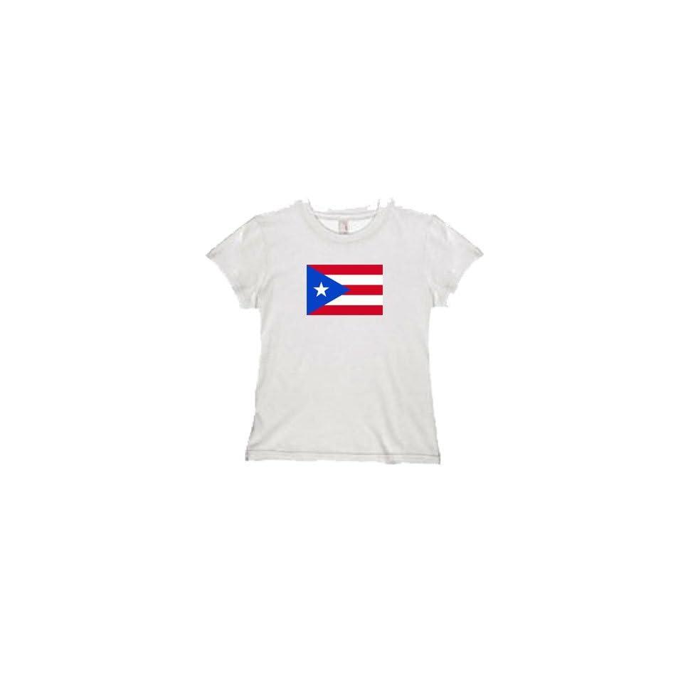 Womens Puerto Rico Flag Tee
