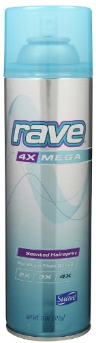 Rave Hair Spray 4X Mega Aerosol, 11 oz (816559010762)