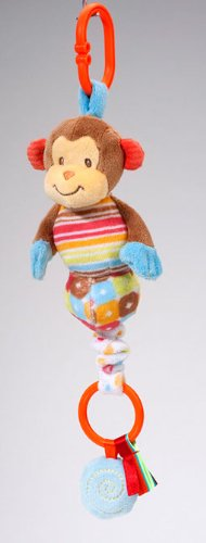 "Paly Tivity Monkey Pulle Zip 10"" by Douglas Cuddle Toys - 1"