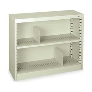"RTA Two Shelf Steel Bookcase 30""H Medium Gray"