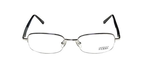 gianfranco-ferre-21802-mens-ophthalmic-brand-name-designer-half-rim-eyeglasses-eyewear-53-19-135-sil