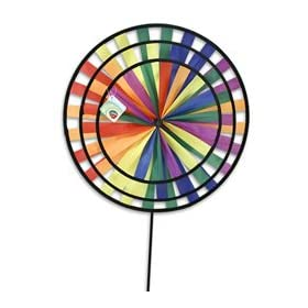 Rainbow Wheels Colorful Vibrant Windmill Spinner Yard Garden Outdoor