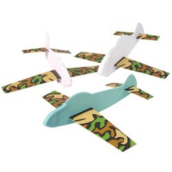 happy deals -Camouflage Gliders - Plastic Body, 12 per unit of 6 inches long