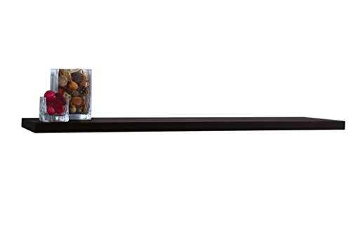 InPlace Shelving 9084674 Floating Wall Shelf, 48-Inch Wide by 1.25-Inch High, Black
