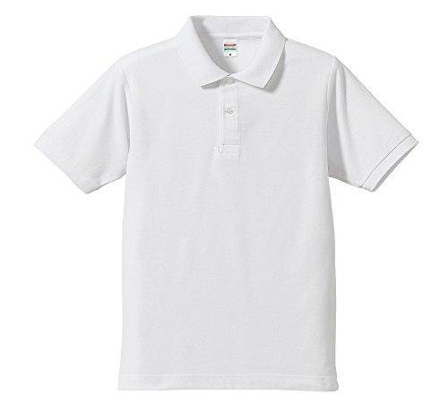 (ユナイテッドアスレ)UnitedAthle 5.3ozドライカノコユーティリティーポロシャツ 505001 1 ホワイト M