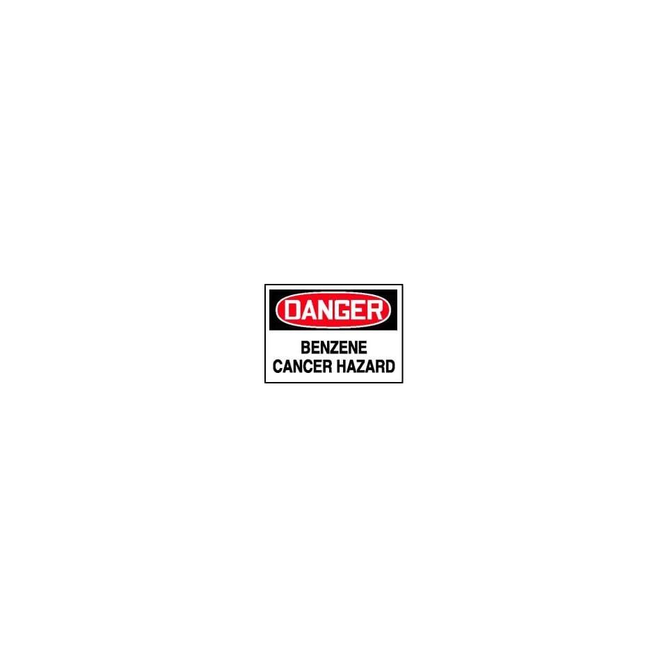 DANGER Labels BENZENE CANCER HAZARD Adhesive Vinyl   5 pack 5 x 7