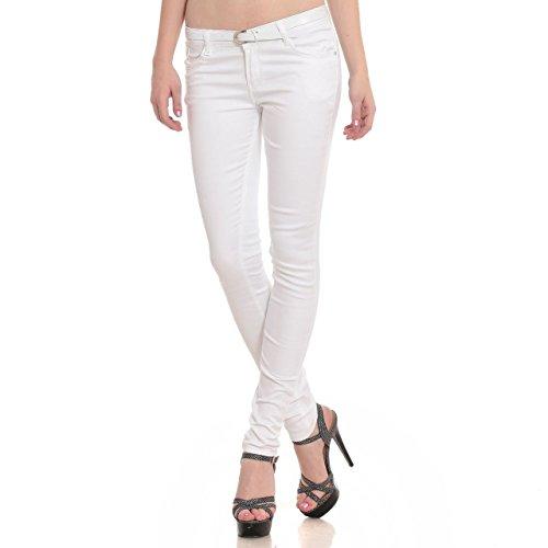 Women's Slim-Fit White Jean's