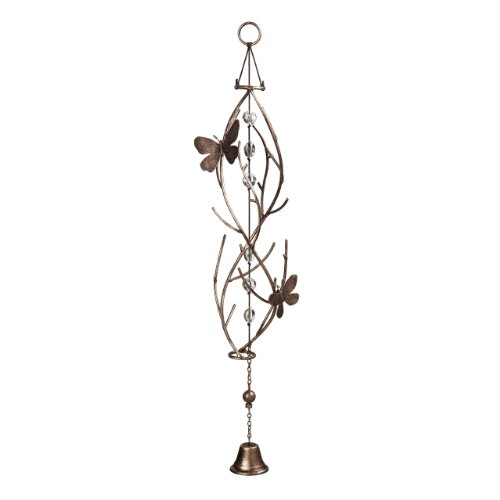 Grasslands Road Garden Mist Helix Chime with Bell and Butterfly Embellishments