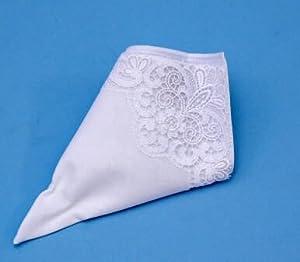 Beverly Clark 16E Irish Linen 10 Inch Handkerchief - White