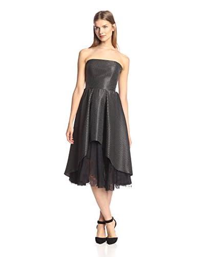 A.B.S. by Allen Schwartz Women's Pleated Dress with Lace Lining