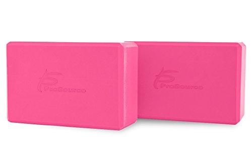 Set of 2 ProSource Yoga Blocks Premium Quality 9 By 6 Large Size