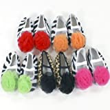 Baby Shoes Animal Print with Chiffon Rosette infant booties
