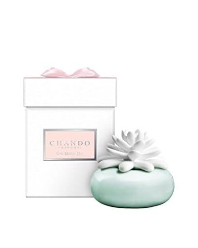CHANDO Elegance Collection Mini White Lotus Diffuser with 1.4-Oz. Caribbean Sea Fragrance