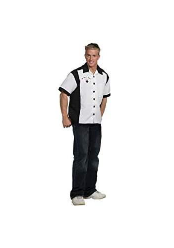 Bowling Shirt (White) Adult Accessory Size XX-Large