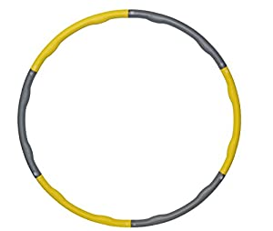 PhysioWorld Advanced Foam Padded Weighted 2.1kg (4.62lb) Fitness Exercise Hula Hoop 100cm wide