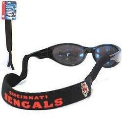 NFL Cincinnati Bengals Neoprene Sunglass Strap, Black