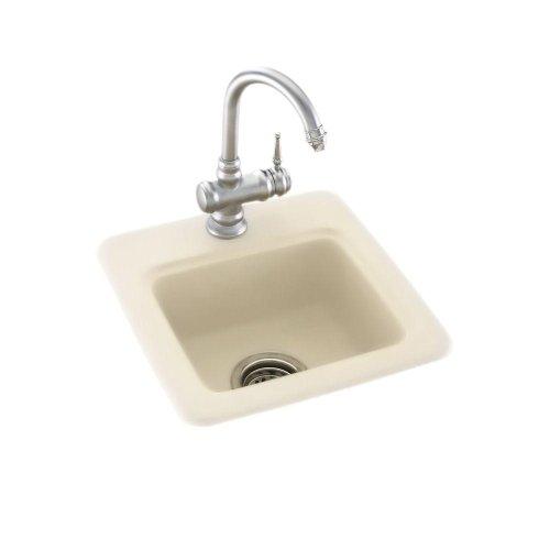 (Bs01515.037) Dual Mount Composite 15X15X6 1-Hole Bar Sink In Bone