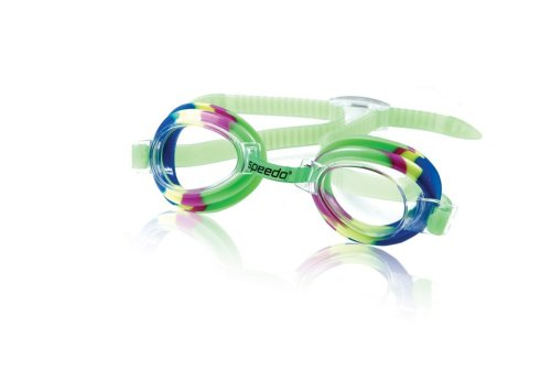 Speedo Kids' Tye Dye Swim Goggle, Green/Clear