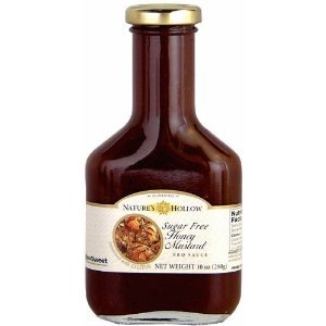 Nature's Hollow Honey Mustard Sugar Free BBQ Sauce Sweetened with Xylitol 10 Oz Bottle