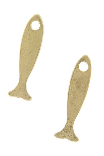 Karmas Canvas Fish Earrings (Matted Gold)
