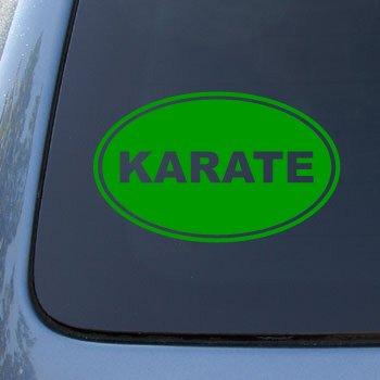 KARATE EURO OVAL - Martial Arts - Vinyl Car Decal Sticker #1723 | Vinyl Color: Green