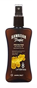 Hawaiian Tropic Protective Dry Spray Oil LSF 8, 200 ml