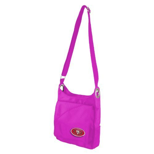 nfl-san-francisco-49ers-pink-grommet-cross-body-purse-85-x-2-x-75-inch-pink-by-littlearth