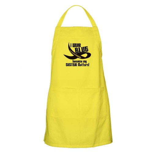 Cafepress I Wear Blue For My Sister 33 Cc BBQ Apron - Standard