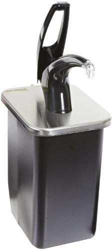 """San Jamar P4100 Stainless Steel Frontline Universal In-Counter Condiment System, 7-1/2"""" Width X 9-3/4"""" Height X 9-1/2"""" Depth, Black"""