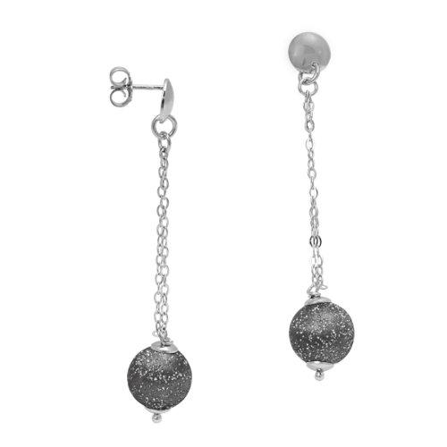 Imagen principal de Bella Donna 5741OHR9 - Pendientes de mujer de plata de ley, 6 cm