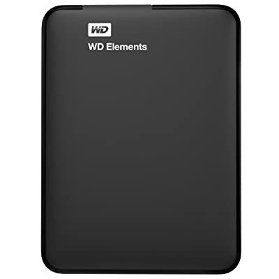 Western Digital WD Elements WDBUZG0010BBK-EESN 1TB Portable External Hard Drive (Black)