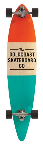 Goldcoast Complete Longboard Skateboard (Standard Orange)