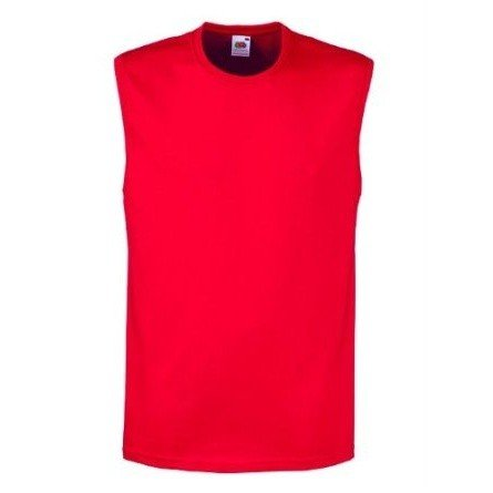 Fruit Of The Loom Mens Sleeveless Vest / Tank Top (S) (Red)