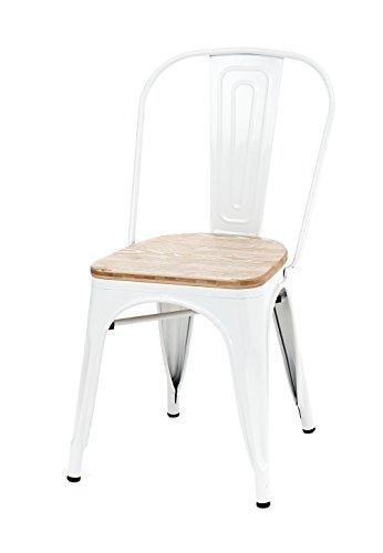 Tomasucci 2420 Tomax Wood Set 2 Sedie, Metallo, Bianco