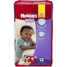 Huggies Supreme Little Movers Diaper - 12 Per Pack -- 9 Packs Per Case. front-964997
