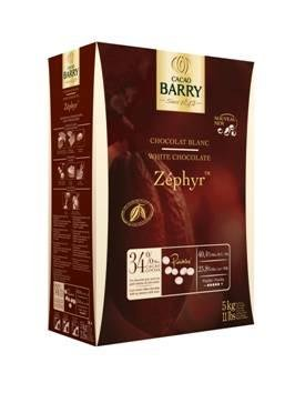 Chocolat Blanc Zephyr 34 % pistoles 5 kg