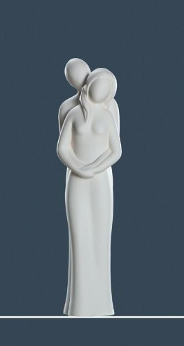 Gilde Skulptur Creme Halt Dich Fest ca 36 cm Hoch Nr 30111 thumbnail