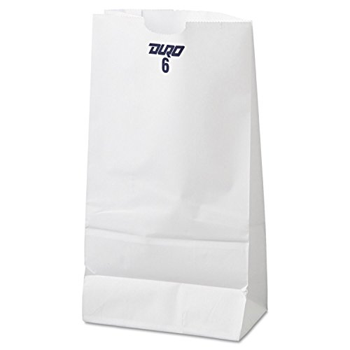 6lb White Rainbow Paper Bags (100Pcs/Pack)
