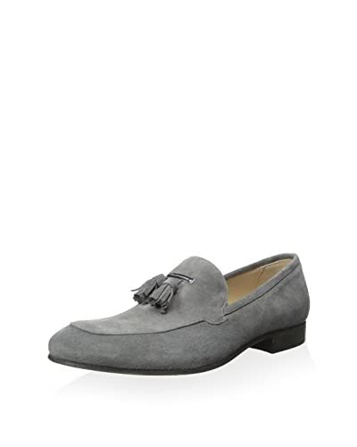 Alessandro dell'Acqua Men's Suede Loafer with Tassel