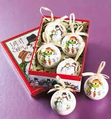 Let it Snow boxed Christmas baubles set of 6