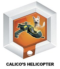 Disney Infinity Series 3 Power Disc Calico's Helicopter (from Bolt) - 1
